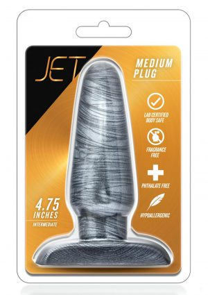 Jet - Medium Plug - Carbon Metallic Black