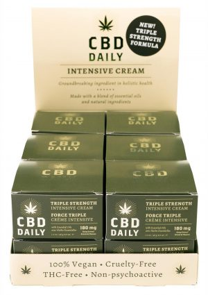 CBD Daily Intensive Cream Triple Strength 13 Each Per Pop Display With Tester