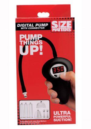 Size Matters Digital Pump With Connector Black