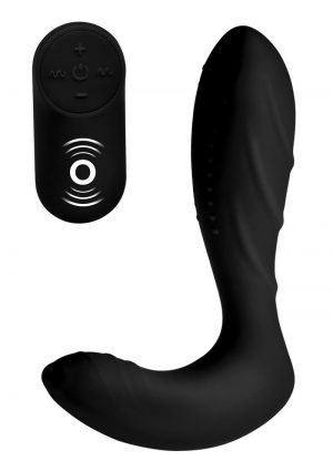 Under Control Silicone Prostate Vibrator With Wireless Remote Control Waterproof Black 5.65 Inch
