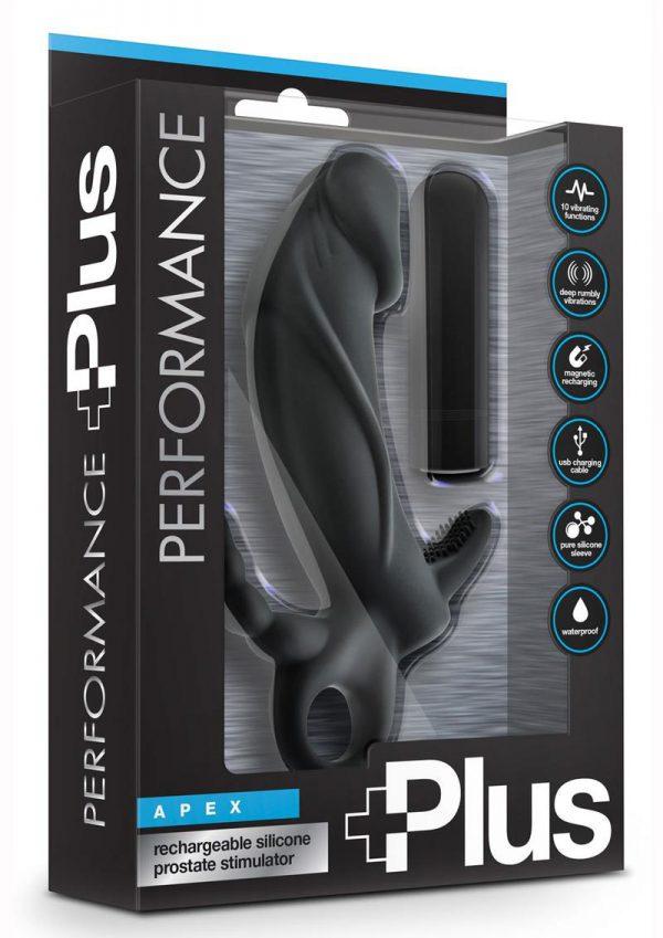 Performance Plus Apex Black Prostate Stimulator Multi Speed