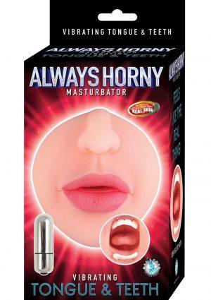 Allways Horny Vibe Tongue and Teeth Mouth Masturbator