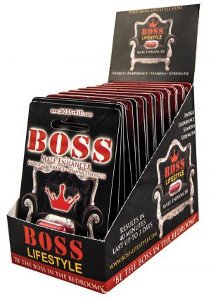 Boss Male Enhancer 20/pop Box Display