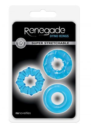 Renegade Dyno Rings Blue Cockring