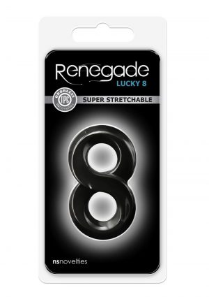 Renegade Lucky 8 Black Cockring