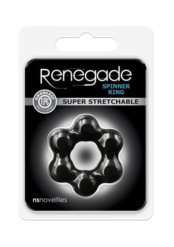 Renegade Spinner Ring Black Cock Ring