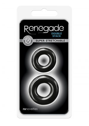 Renegade Double Stack Black Cock Ring