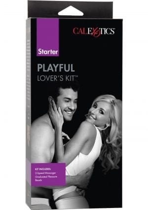 Playful Lovers Ensemble Massager And Pleasure Beads Purple