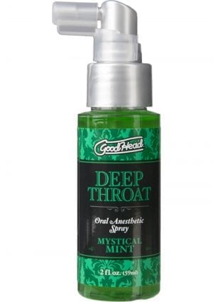 Goodhead Deep Throat Oral Anesthetic Spray Mystical Mint 2 Ounce
