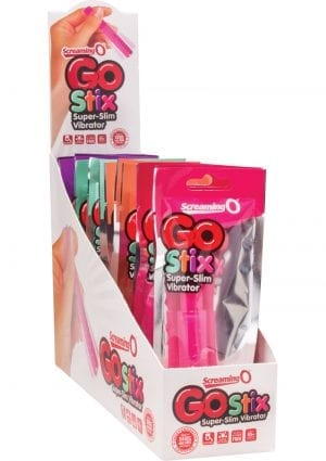 Screaming O Go Stix Super Slim Vibrator Assorted Colors 16 Piece Display
