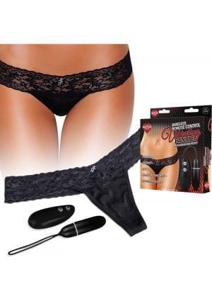 Wireless Remote Control Vibrating Panties Black Small To Medium