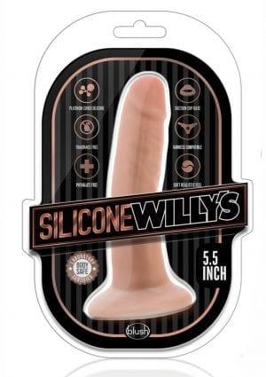 Silicone Willy`s Non Vibrating Realistic Dildo Vanilla 5.5 Inch
