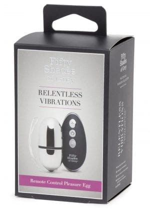 Fifty Shades Of Grey  Relentless Vibration Remote Control Pleasure Egg