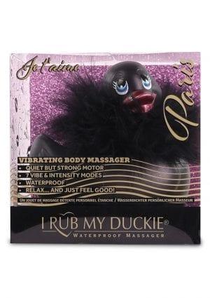 I Rub My Duckie 2.0 Paris Waterproof Vibrating Massager  Black