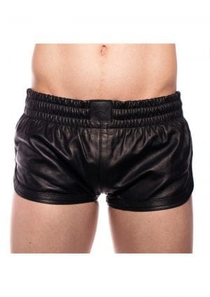 Prowler Red Leather Sport Shorts Blk Xs