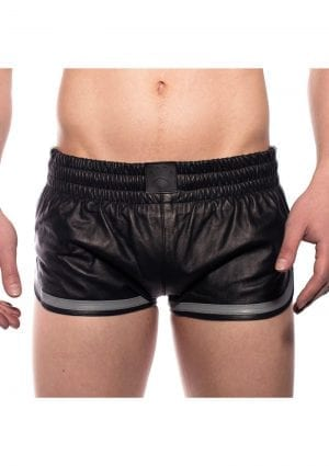 Prowler Red Leather Sport Shorts Gry Xs