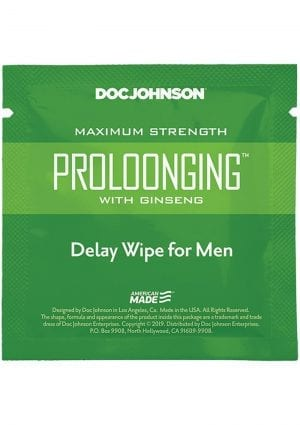Proloonging W/ginseng Delay Wipe 10ct Pk