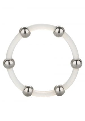 Steel Beaded Silicone Ring X-lg