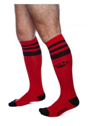 Prowler Red Football Socks Red/blk