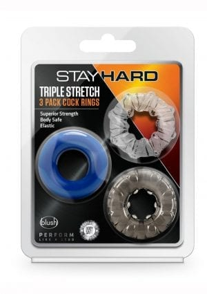Stay Hard Triple Stretch 3pk Crings