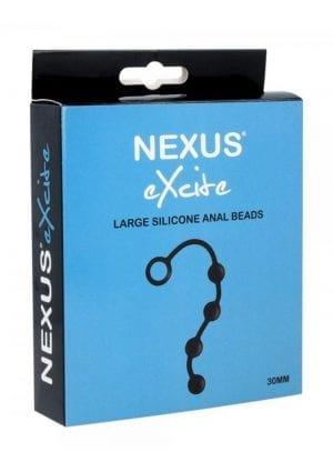 Nexus Excite Large Silicone Anal Beads  30MM BlackBlack