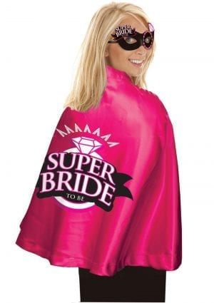 Super Bride Cape And Mask Set