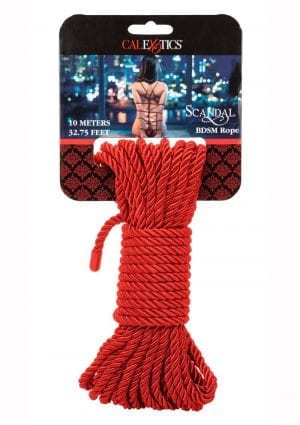Scandal Bdsm Rope 10m Red