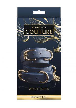 Bondage Couture Wrist Cuff - Blue