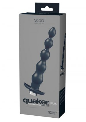 Quaker Plus Anal Vibe Black