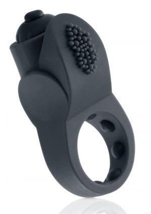 PrimO Apex Silicone Vibrating Ring – Black