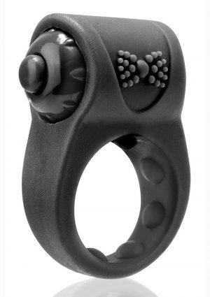 Primo Tux Silicone Vibrating Ring – Black