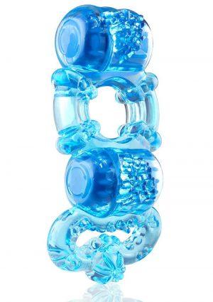 Tri-O Triple Pleasure Ring – Blue
