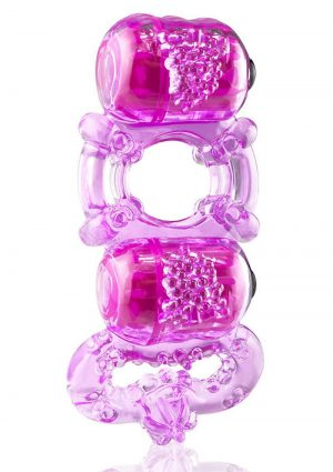 Tri-O Triple Pleasure Ring – Purple