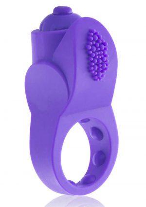 PrimO Apex Silicone Vibrating Ring – Purple