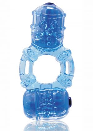 The Big O 2 Vibrating Double Ring – Blue