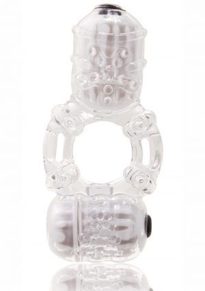 The Big O 2 Vibrating Double Ring – Clear