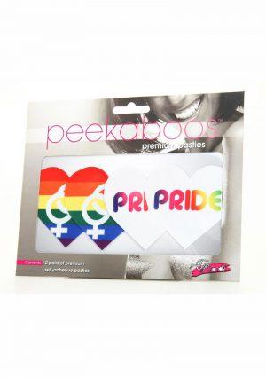 Peekaboo Pride Hearts Pasties - Rainbow