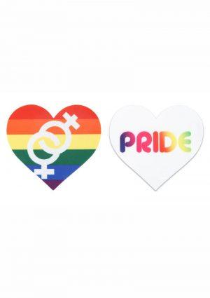 Peekaboo Pride Hearts Pasties – Rainbow