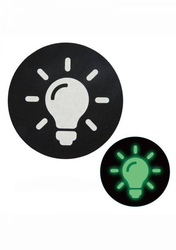 Peekaboo Glow In The Dark Light Bulb Pasties - Black/Green
