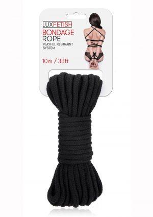 Lux Fetish Bondage Rope 10m – Black
