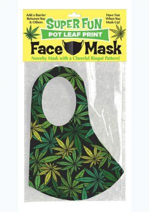 Super Fun Pot Leaf Mask - Green/Black