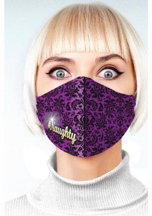 Super Sexy #Naughty Mask – Purple/Black