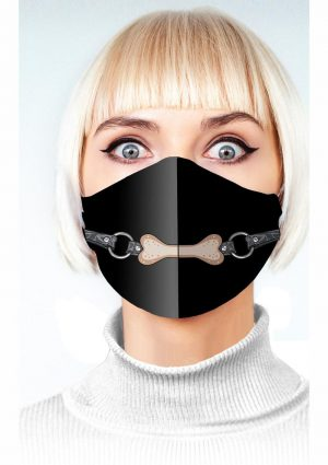 Super Naughty Dog Bone Gag Mask – Black