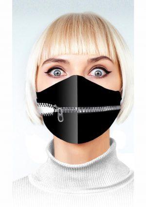 Super Naughty Zipper Mouth Mask – Black