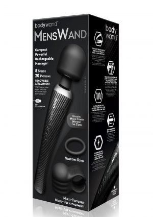 Bodywand MensWand Rechargeable Silicone Massager - Black