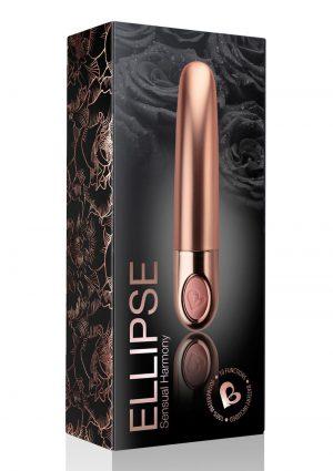 Ellipse Silicone Bullet - Rose Gold