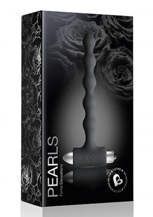 Petite Sensations Pearls Silicone Vibrating Anal Probe - Black
