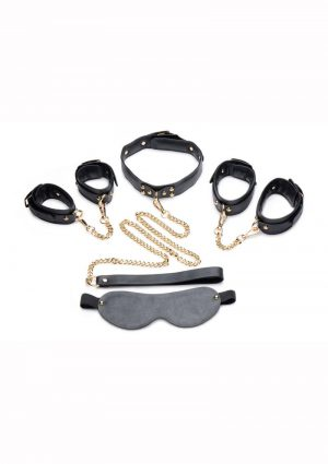 Master Series Golden Submission Bondage Set (4 Piece Kit) – Black/Gold