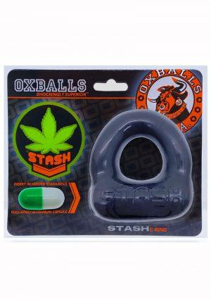 Stash Cock Ring With Aluminum Capsule Insert - Black