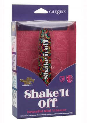 Naughty Bits Shake It Off Powerful Mini Vibrator - Multi Color